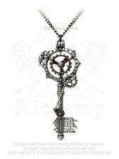 Alchemy Septagramic Coercion Gearwheel Key Pendant/Necklace P671 steampunk/cogs