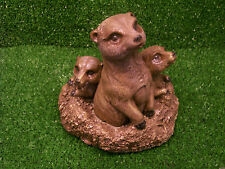 Meerkat Family Garden Ornament Statue Latex Mould/Mold Only.