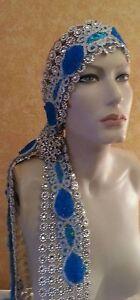 Gatsby Flapper Diamond Illusion Jewel Mesh Rhinestone Headpiece Bridal Costume