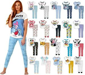 New Womens Ladies Official Disney Pyjama Set Pjs Pajamas Nightwear Loungewear