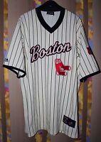 RARE MLB BASEBALL BOSTON RED SOX COOPERSTOWN JERSEY SHIRT MAJESTIC 1967