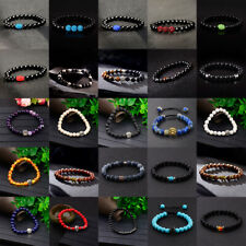 Wholesale Lots 15 Pcs Mixed Bracelets Natural Stone Stretch Women Men Bracelets