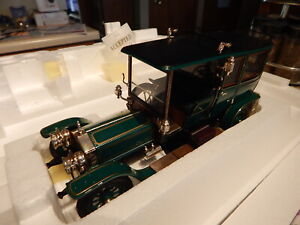 RARE 1907 Rolls Royce Silver Ghost Town Car in Green by Franklin Mint,