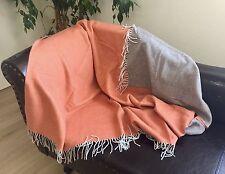 laine COUVERTURE double-face avec cachemire, canapé-couverture 130x175 cm 100%