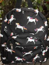 Small Rainbow UNICORN BACKPACK School Book Bag Travel Tote NEW