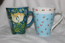 2 Mug Cup Kim Parker  Home Spode Chicory Hymn Flowers Kitchen Craft UK Design