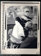Andre Agassi 1992 US Open A/P Laser Wire Photo with caption