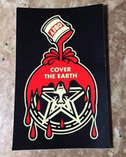 """OBEY Giant Shepard Fairey """"Cover the Earth"""" Limited Edition Sticker"""