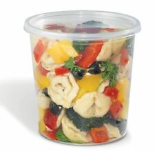 SunnyCare® 24 oz Clear Round Deli Container with Lid 240 /Case