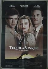 TEQUILA SUNRISE FF ORIG 1SH MOVIE POSTER KURT RUSSELL MEL GIBSON RAUL JULIA 1988