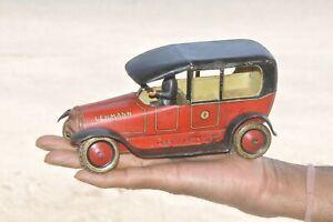 Rare Vintage à Remonter Lehmann 679 Voiture Boite Jouet, Allemagne