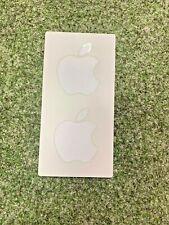 Apple Logo Sticker Stickers 2x Small White - Genuine
