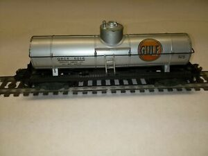 C-5 S scale American Flyer #925 Gulf silver tanker freight car GC single dome 11