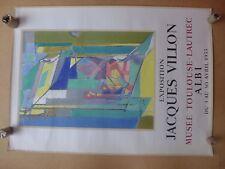 JACQUES VILLON affiche ancienne 1955 Albi  Lithographie   MOURLOT