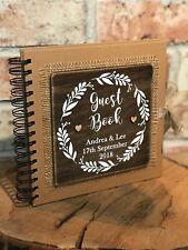 Wedding guest book personalised rustic guest book alternative custom guest book