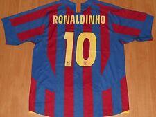 BARCELONA BARCA SPAIN 2005 / 2006 #10 RONALDINHO FOOTBALL SHIRT JERSEY HOME NIKE
