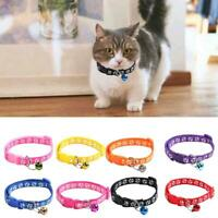 Cute Paw Pattern Adjustable Pet Collar Cat Small Dog Cat Colourful Buckle K5A3