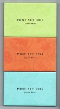 Japan Mint Coin Set, 3 sets 2015, 2014 and 2013 (Heisei 27, 26 and 25) [Mint]