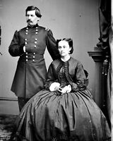 New 8x10 Civil War Photo: Union - Federal General George McClellan & Wife
