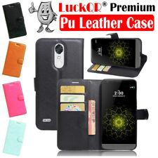 For LG LV5 Grace LTE L59BL VS501 Leather Case Folio Card Wallet Stand Black US