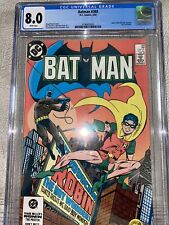 Batman #368 CGC GRADED 8.0 - Jason Todd officially becomes 2nd Robin - white pgs