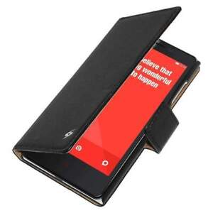 Flip Case For Xiaomi Redmi Note 4G Prime PU Wallet Cover Stand - Black