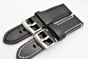 Handmade Watch Strap Genuine Cowhide Flat Durable Stitching 18mm-22mm