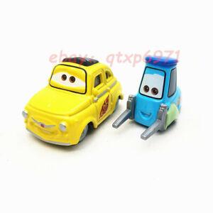 Mattel Disney Pixar Cars Race Team Luigi & Guido Metal Diecast Toy Car Loose