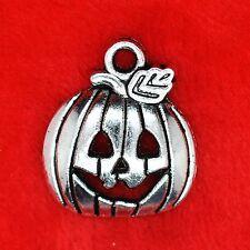8 x Tibetan Silver Halloween Pumpkin Charm Pendant Finding Bead Jewellery Making
