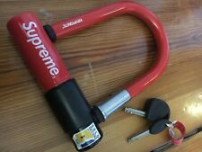 Supreme nyc kryptonite evolution mini 5 bicycle u lock red schloss