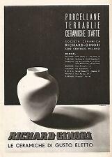 W9563 RICHARD-GINORI - Le ceramiche di gusto eletto - Pubblicità del 1938 - Ad