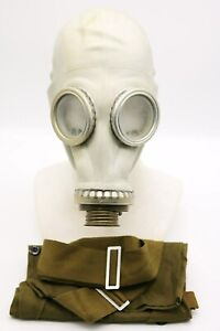 BEST PRICE Authentic Soviet Russian GAS MASK GP-5 GRAY & bag Genuine Vintage