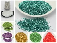 45 Gram Glass Crushed Chips Powder Irregular Shape Nail Art Tips + Storag Box