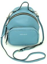Coccinelle Cross Body Bag in Mini Backpack Style Bag Light Blue Leather RRP £270