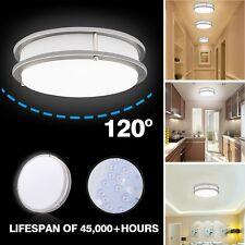 Modern Round Silver White Warm LED Hallway Ceiling Light Bulb Lamp Flush Mount