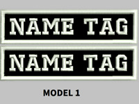 """Custom Embroidered 4"""" x 1"""" Name Patch Motorcycle Biker  Iron on/sew on 2 PATCHES"""