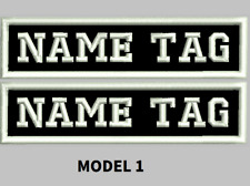"Custom Embroidered 4"" x 1"" Name Patch Motorcycle Biker  Iron on/sew on 2 PATCHES"