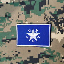 Lone Star State Texas Texan Flag Militray Tactical Embroidery Hook Patch Blue