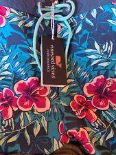 Vineyard Vines Mens Whale Ocean Floral Board Shorts 36 Blue Swim Trunks