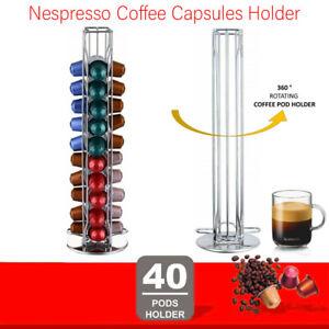 40 Nespresso Coffee Capsules Pod Holder Stand Dispenser Rack Storage Capsule