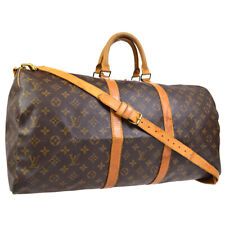 LOUIS VUITTON MONOGRAM KEEPALL 55 BANDOULIERE TRAVEL BAG M41414  gu 30750
