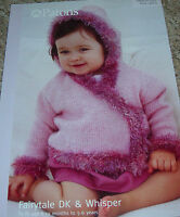 Original Patons DK & Whisper Knitting Pattern Baby's/Child's Wrap Hooded Jacket