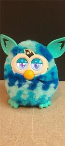 Hasbro FURBY Teal & Blue Waves WORKING 2012 Plush Electronic Interactive Toy