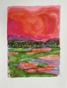 A signed limited edition lithograph by Ronald Julius Christensen - 'African Sky'