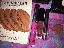 Anastasia Beverly Hills Party Pink,Wine, Fudge,Clear Brow Gel & Concealer Sample