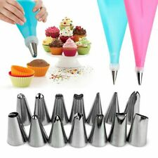 16pcs/set Confectionery Bag With Nozzles Icing Piping Tip Cake Decorating Tool