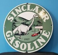VINTAGE SINCLAIR GASOLINE PORCELAIN HC MOTOR OIL SERVICE DINO STATION PUMP SIGN