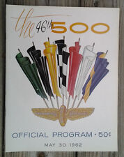 Vintage 1962 Indy 500 Race Program 46th Race Roger Ward Wins