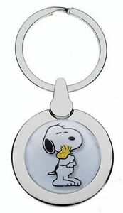SNOOPY AND PEANUTS WOODSTOCK  METAL POLISHED SILVER COLOUR KEYRING
