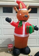 Inflatable Waving Reindeer Christmas Airblown 7 Ft Tall